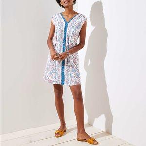 4bffd62031 ... LOFT FLORAL PAISLEY TIE WAIST DRESS ...